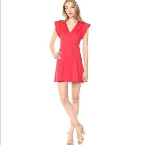 BCBGeneration Ponte Fit and Flare dress Red Ginger